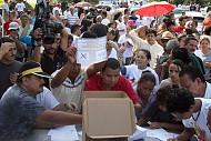 Pese a golpe militar hondureños asisten a  consulta popular