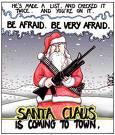 Hombre vestido de Santa asesina a familia