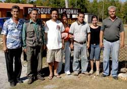 Cuidadores de iguanas. En reserva de la biosfera